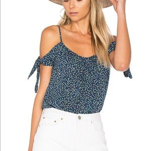 Bailey 44 wahine ditsy off the shoulder top SZ S